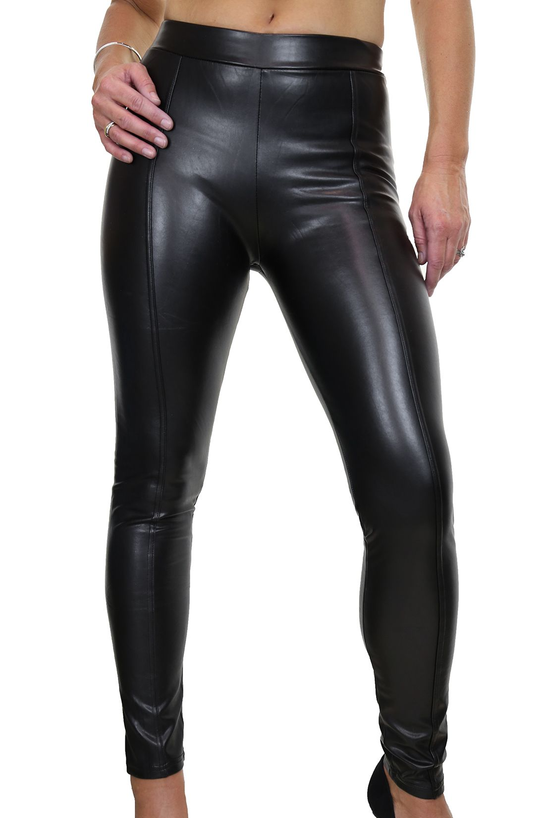 Black Skinny Faux Leather Jeggings Jeans
