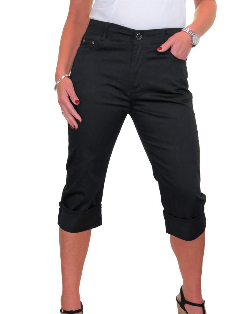 NEW Stretch Cropped Leg Turn Up Chino Jeans With Sheen 10-20