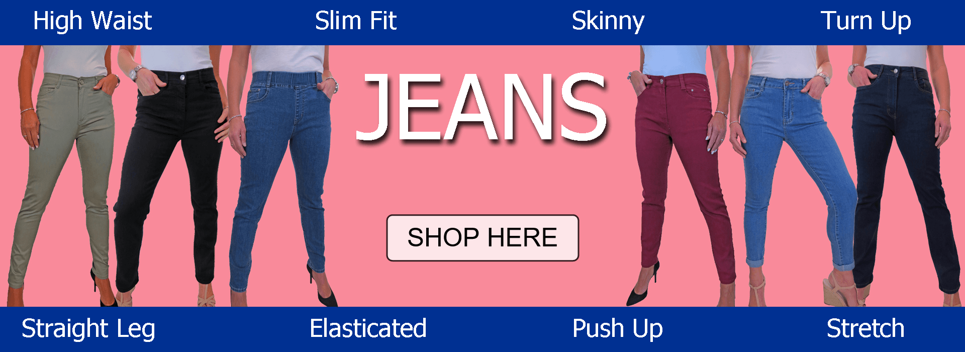 Womens Jeans in trendy styles and classic cuts